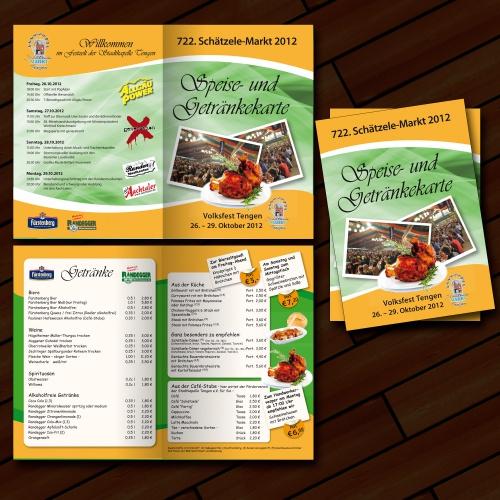 Speisekarte für Festzelt Volksfest