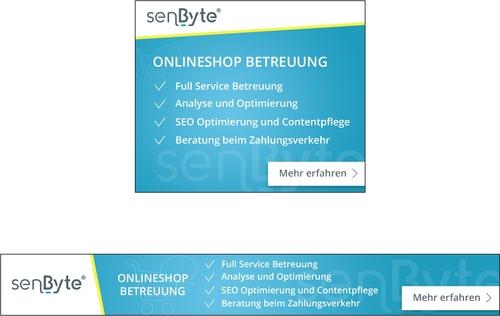 Webbanner-Design für Dienstleistung der Onlineshop-Betreuung