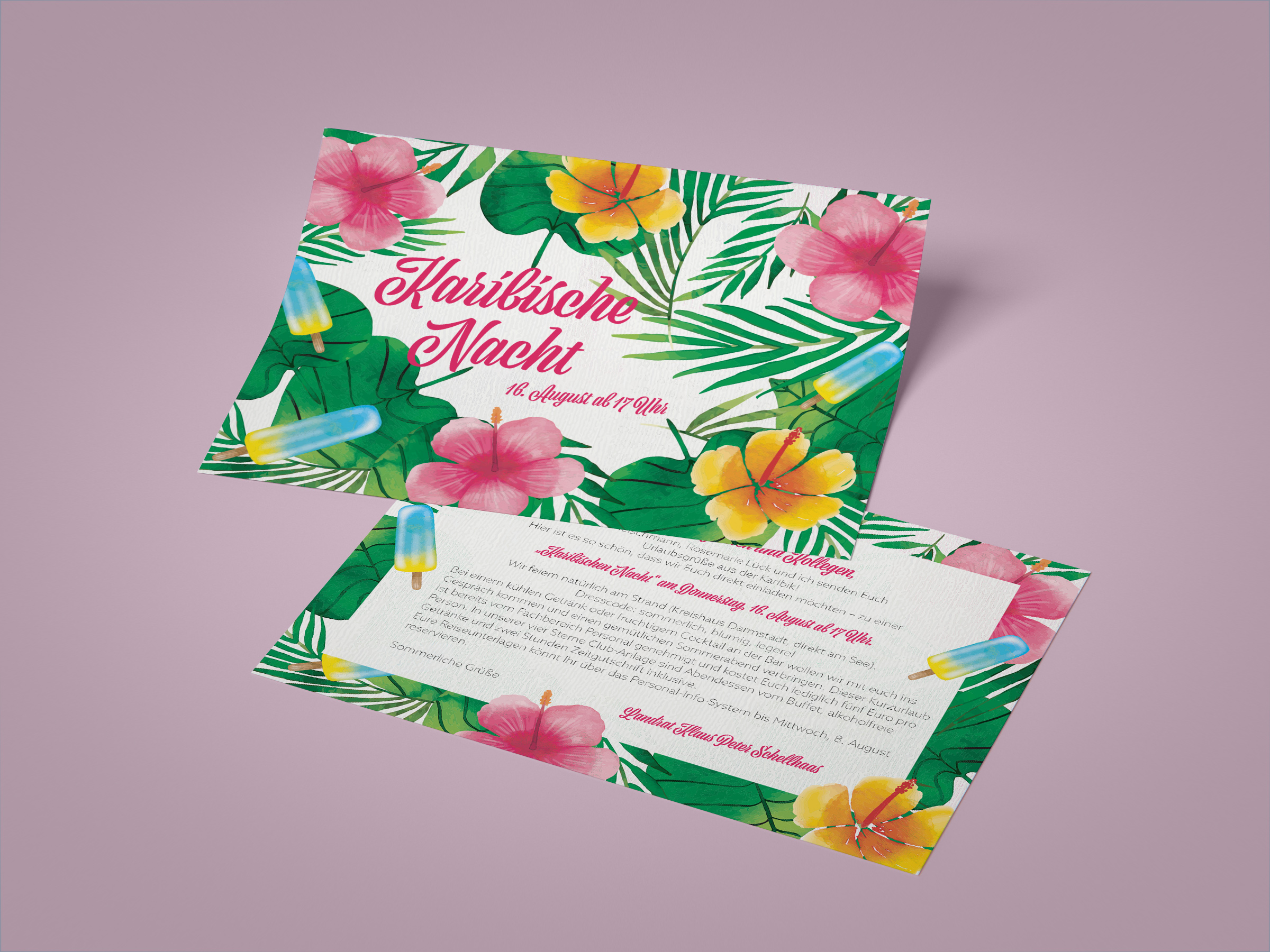 einladungskarten-design für jährliches sommerfest