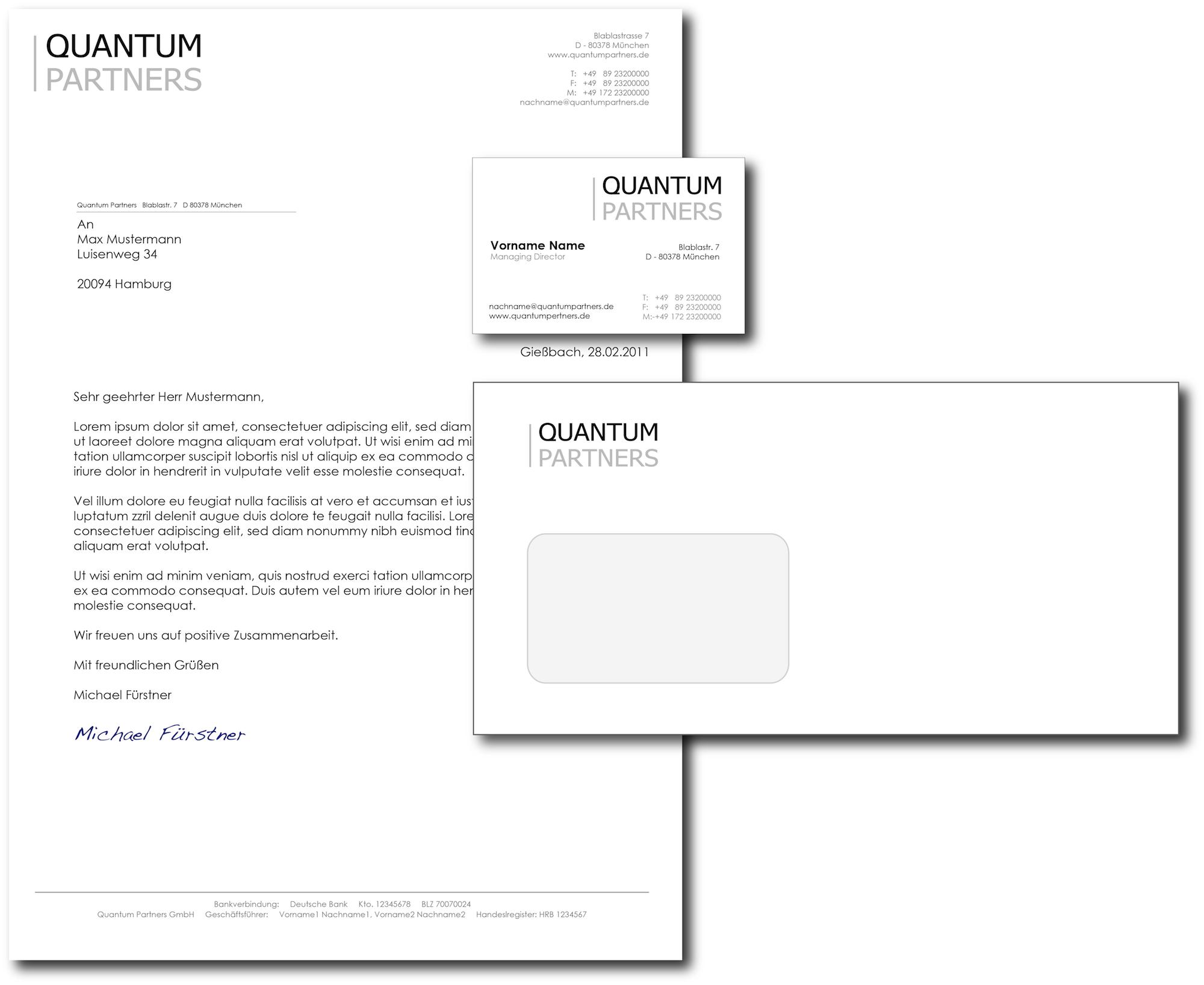 Visitenkarten Und Briefpapier Für M A Beratung