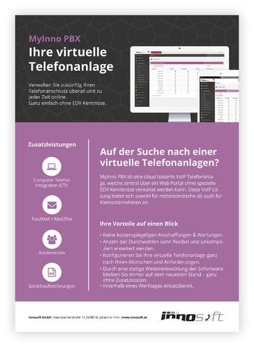 Flyer-Design für innovativen VoIP Anbieter