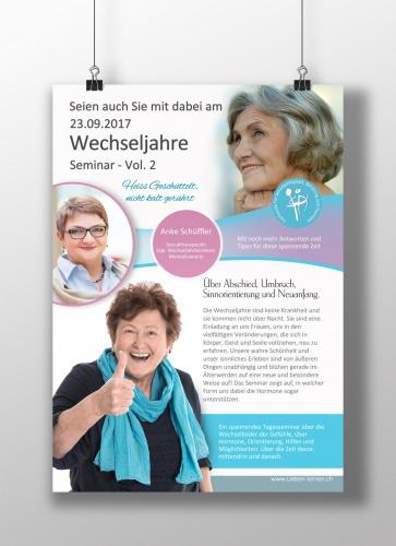 Seminare für Frauen in den Wechseljahren sucht Flyer-Design