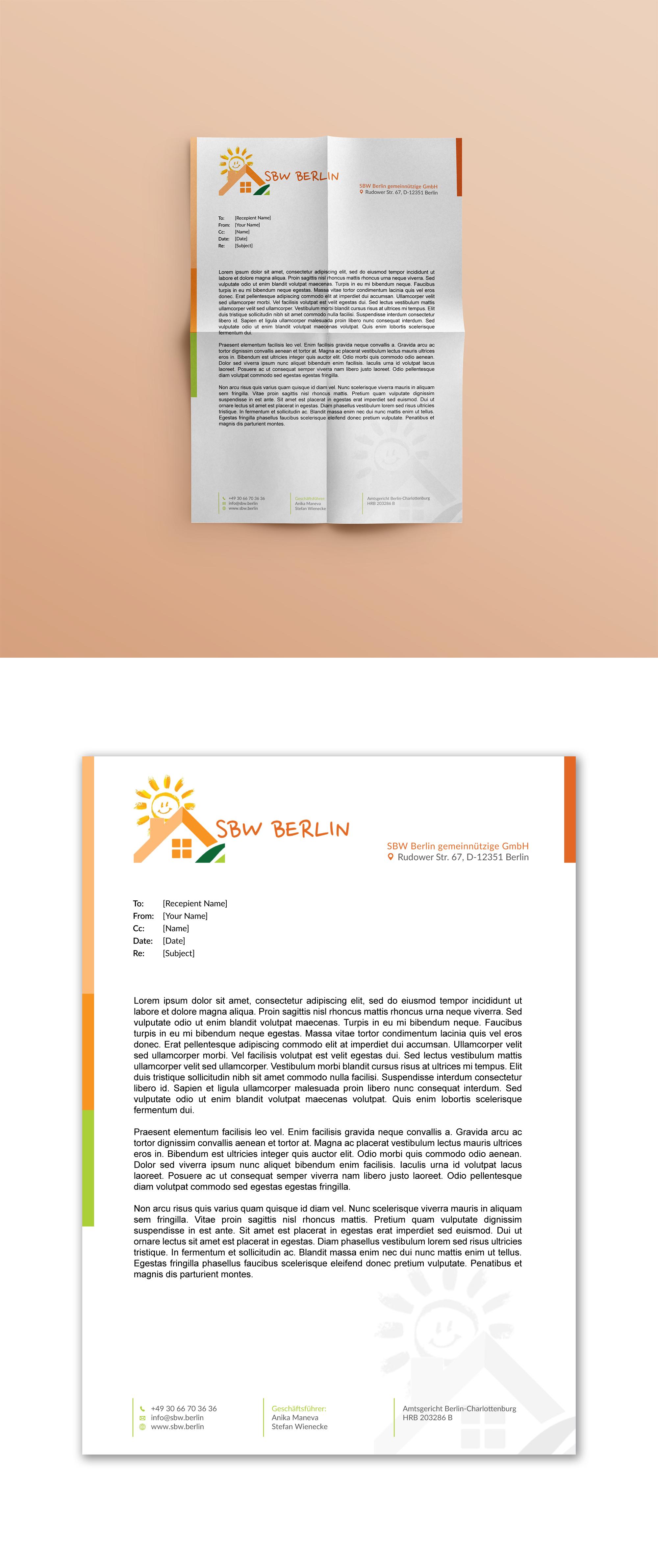 Geschäftspapiere Für Gemeinnützige Organisation