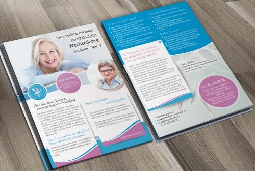 Flyer-Design für Wechseljahre Seminar