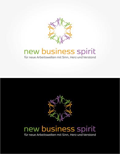 Buntes Logo-Design zur Schaffung positiver Arbeitsbedingungen