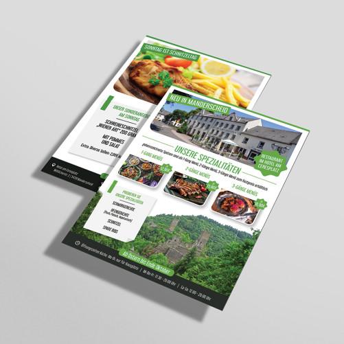 Flyer-Design für Hotel mit Halbpension