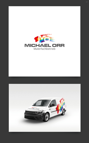 Einzigartiges Logo-Design für Malerbetrieb
