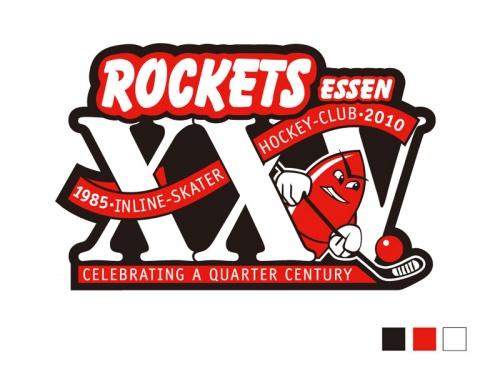 25 jaar logo voor een skater hockey club