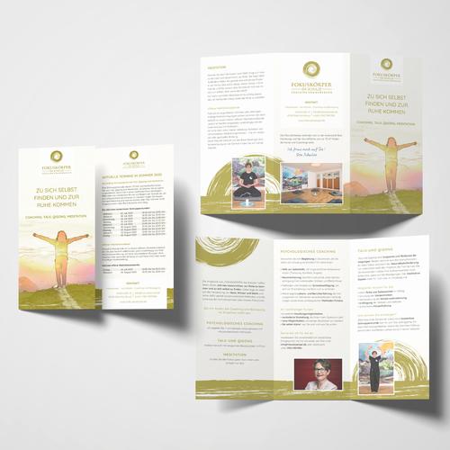 Flyer-Design für psychologisches Coaching  und Taiji