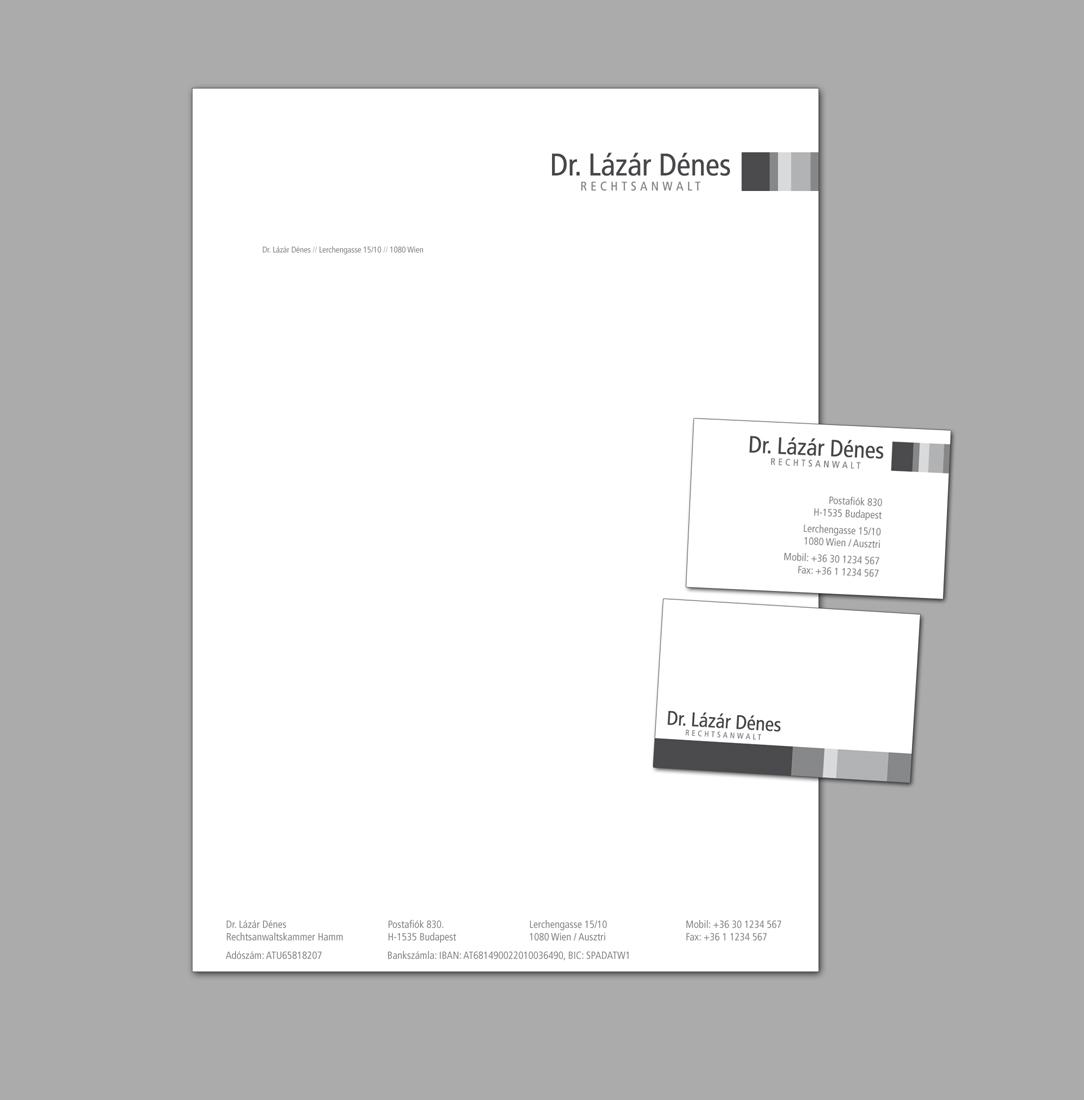 Kanzlei Logo Briefpapier Und Visitenkarte Business Card
