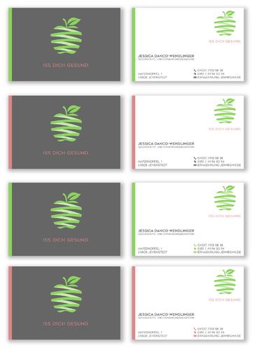 Visitenkarten-Design für Gesundheits- und Ernährungsberaterin