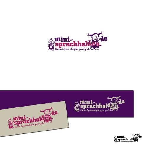Funny Logo for www.mini-sprachhelden.de
