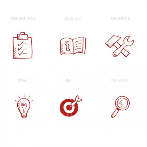 Icon-Design für Seminarunterlagen