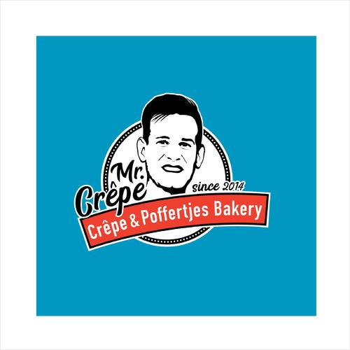 Logo-Design für kleinen stylischen Foodtrailer aus dem Crêpes & Poffertjes verkauft werden