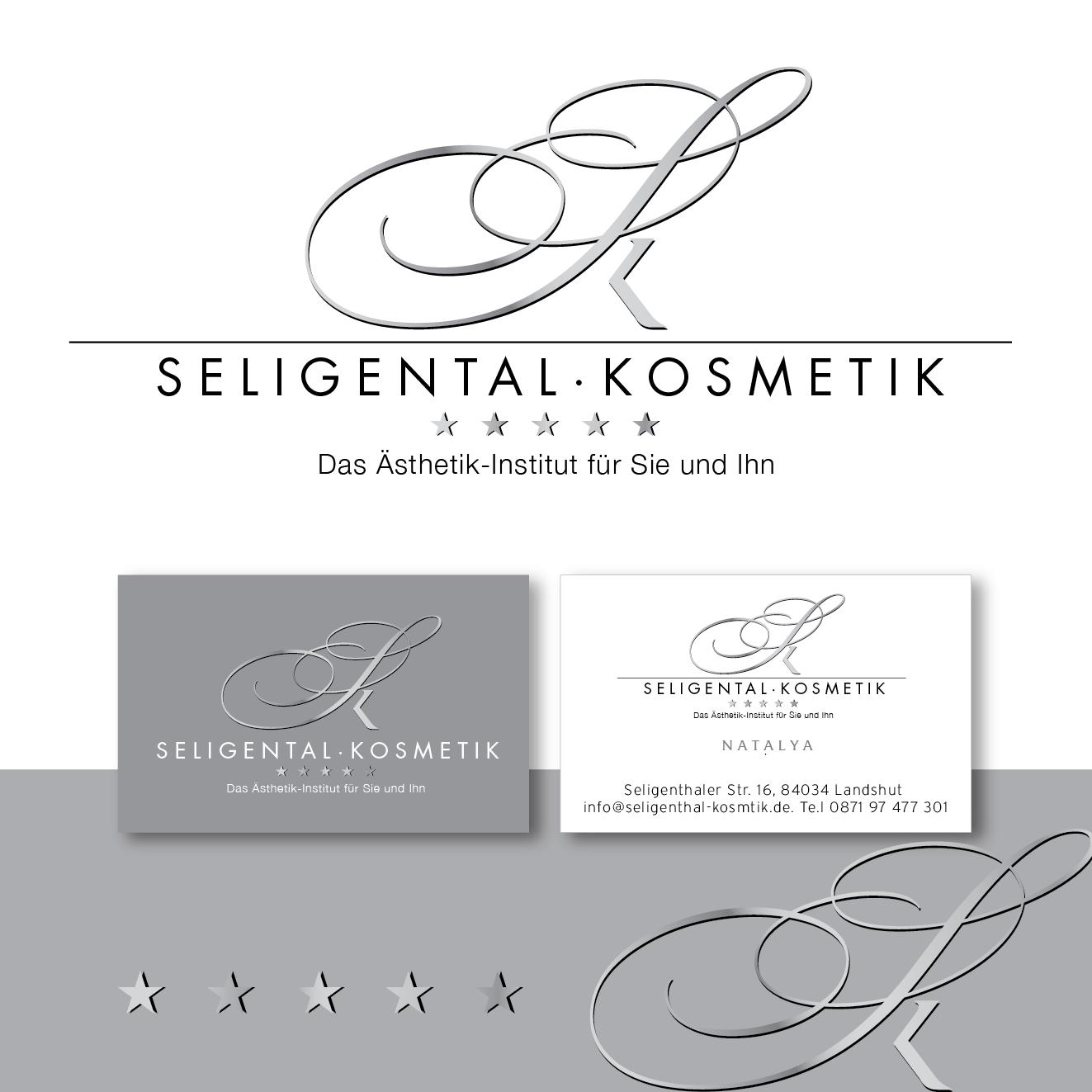 Logo Visitenkarte Für Kosmetikinstitut ästhe Logo