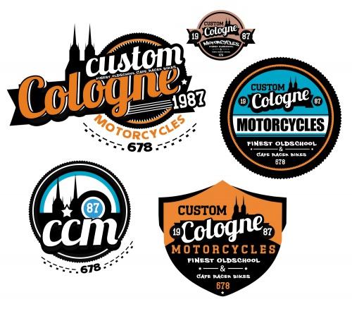 Custom Colonge Motorcycles sucht 3 Logos