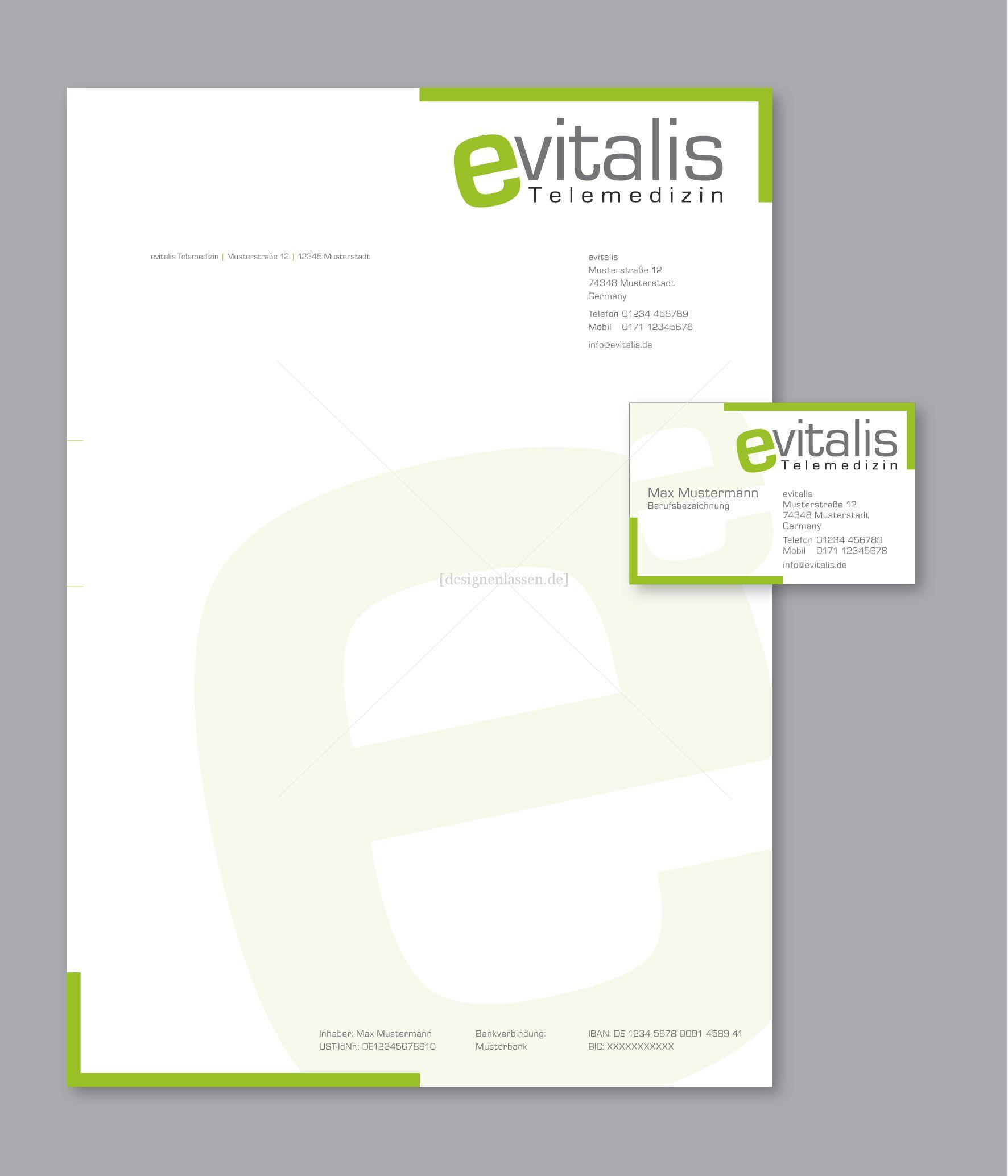 Briefpapier Und Visitenkarten Erstellen Logo Vor