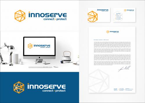 Logo-Design connecting the digital world