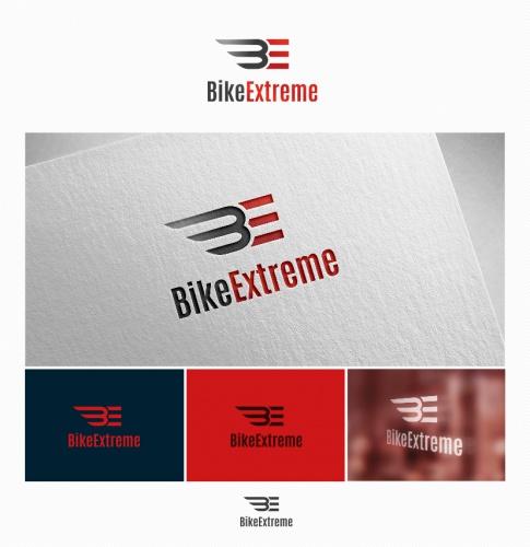 Logo-Design für Motorradkleidung und Zubehör für sportliches Fahren und Rennstrecke.