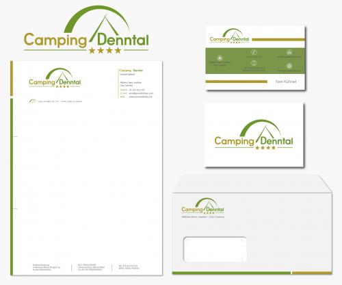 Briefpapier-Design für Campingplatz Denntal