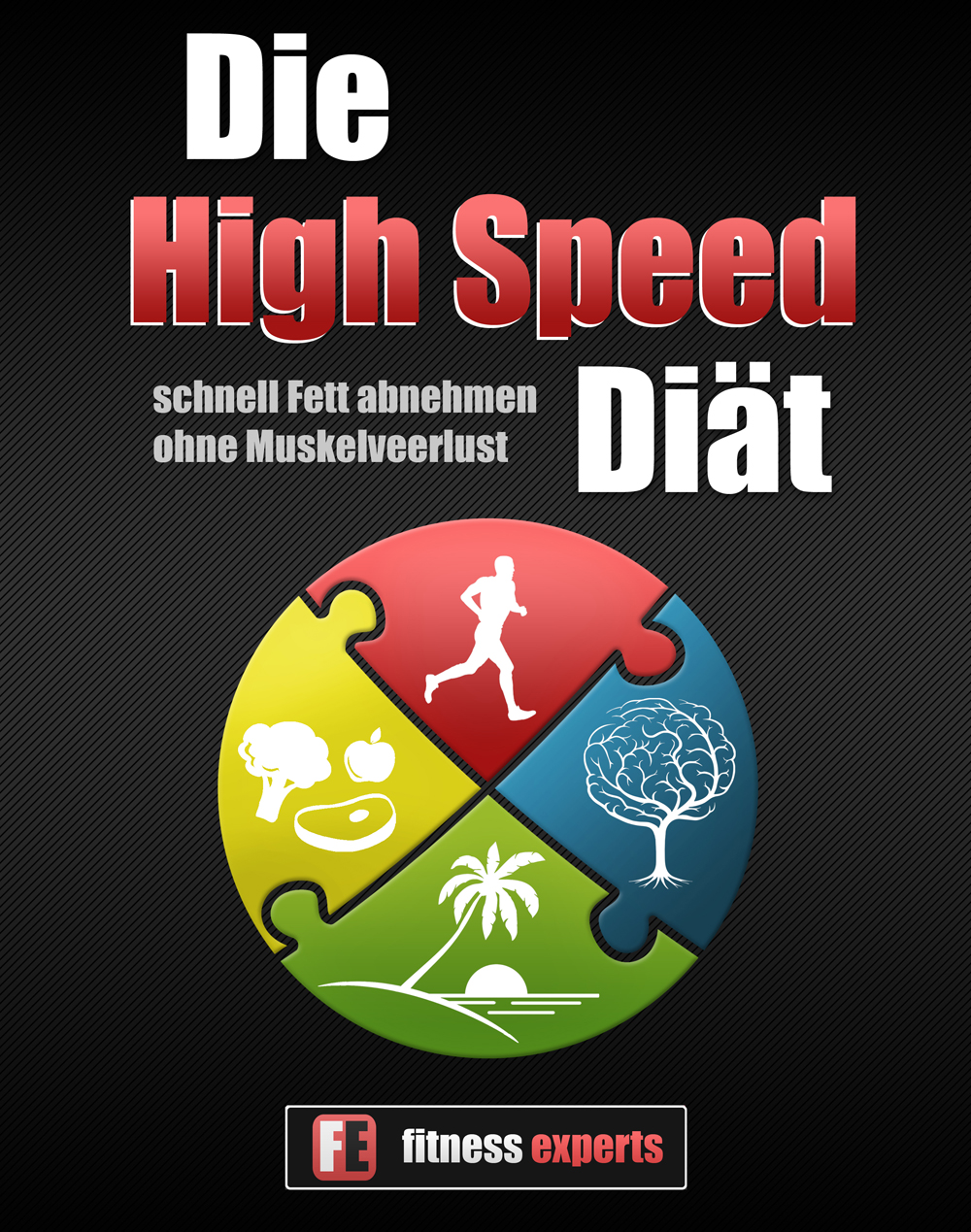 Illustration für Ebook Cover (Ernährung, Training, Erholung, Psychologie)