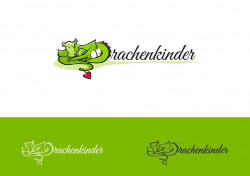 Drachenkinder zoek draken sterke Logo