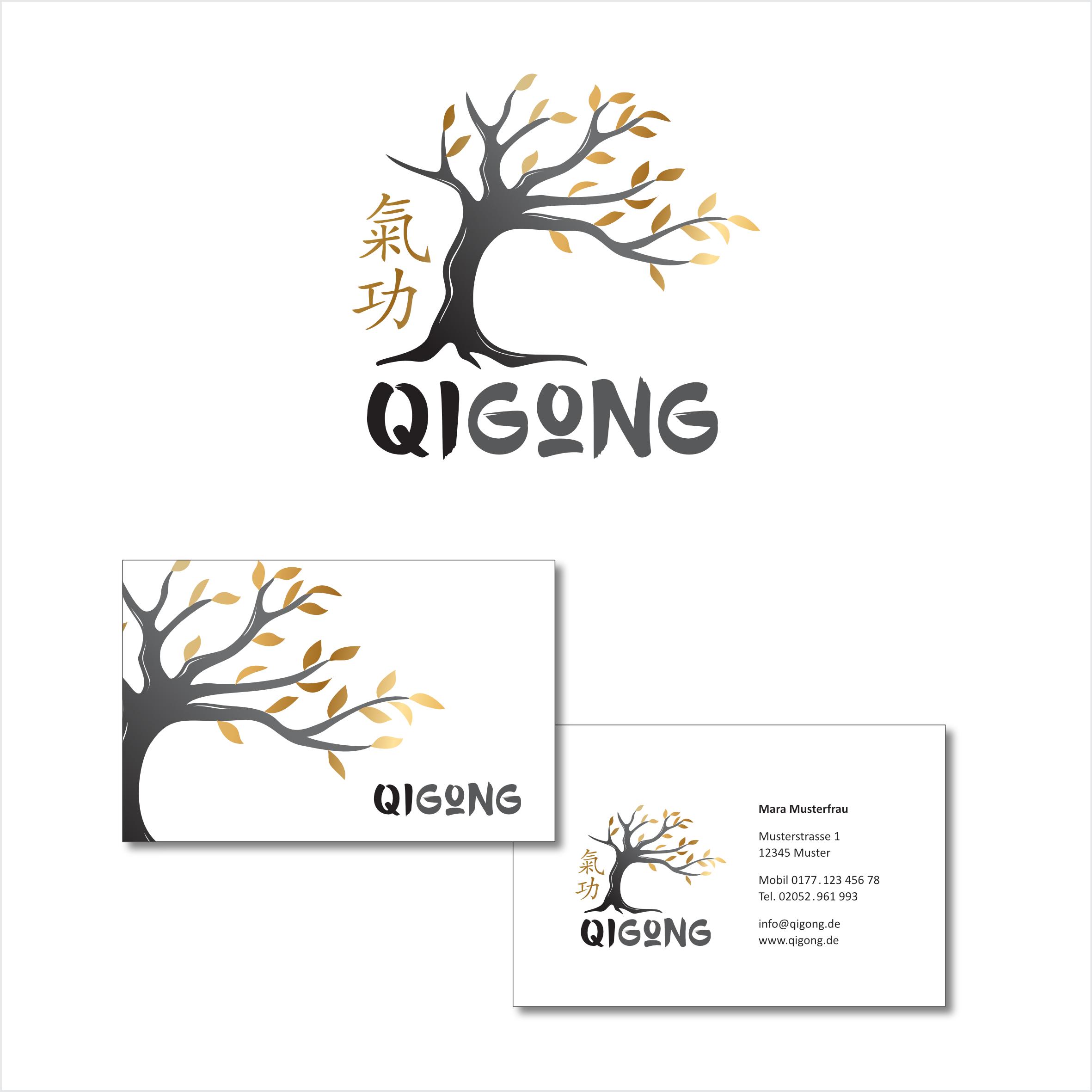 Logo Visitenkarte Für Qigong Kurse Logo Visitenkarte