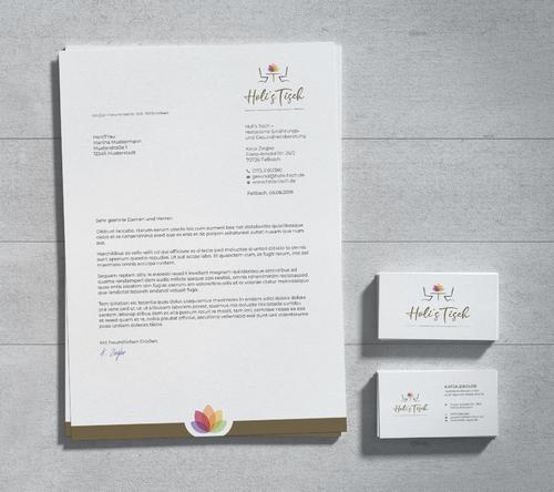 Corporate Design für Holistische Ernährungs- und Gesundheitsberatung
