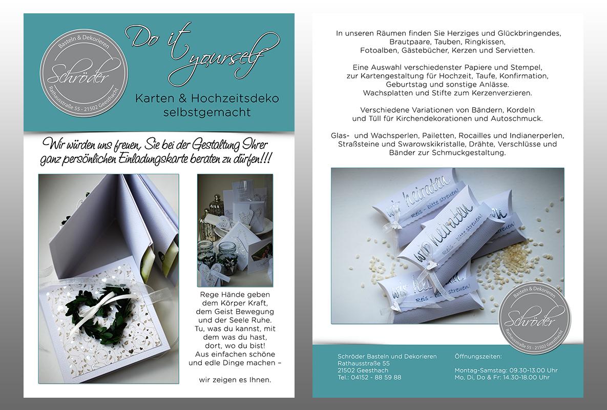 Doe het zelf kaart en Hochzeitsdeko zelfgemaakte