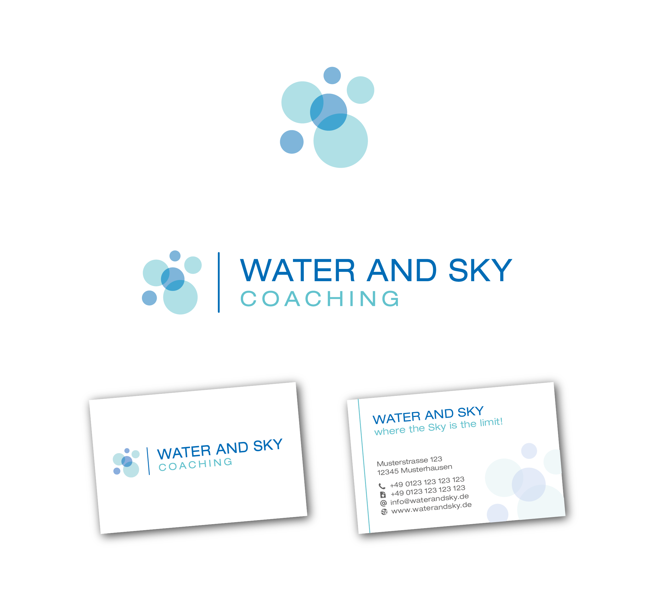 Logo Visitenkarte Für Water And Sky Coaching Logo