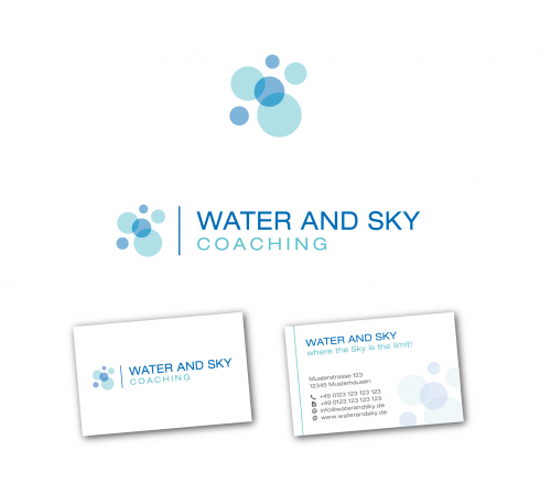 Logo & Visitenkarte für Water and Sky Coaching