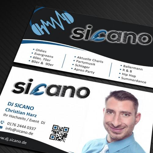 Visitenkarten-Design für Hochzeits & Event DJ