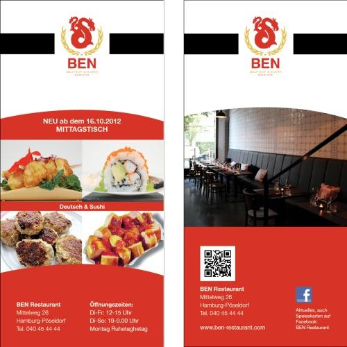 Design für das Restaurant 'Ben'