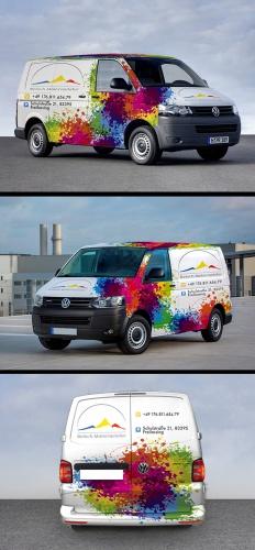 Fahrzeugbeschriftung für Malerbetrieb