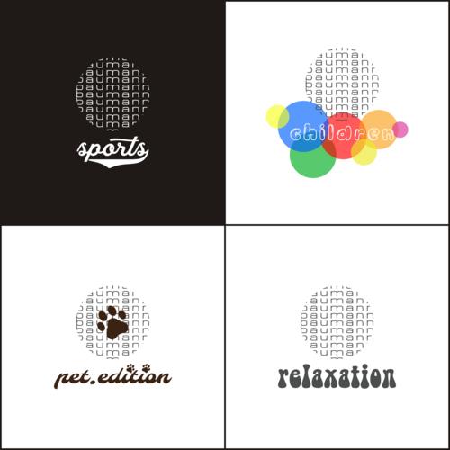 Logo-Weiterentwicklung für 4 Produktlinien ,  Logo development for 4 product lines