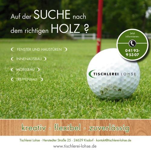 Einladung/Programmheft Golf Turnier - Anzeigengestaltung