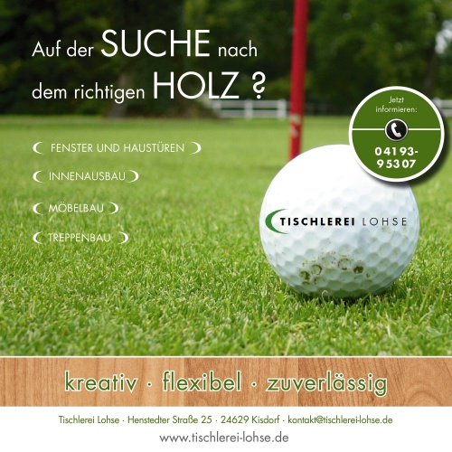 Uitnodiging / programmaboekje golftoernooi - Ad Design