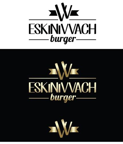 Logo Vereinfachung zu Icon für Burgerrestaurant