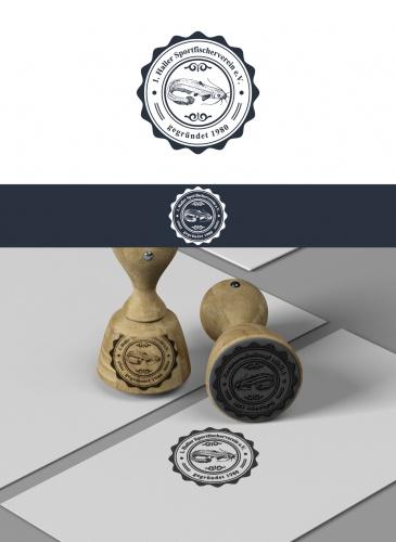 Stempel und Siegel für einen Angelverein