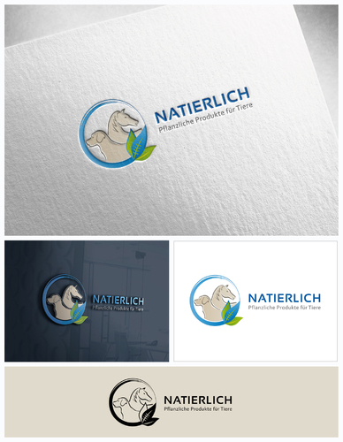 Hochwertiges Logo-Design für pflanzliche Heilmittel für Tiere