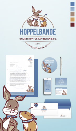 Corporate Design für hoppelbande.ch