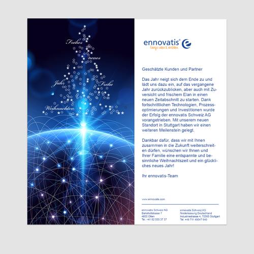 Digitale Weihnachtskarte für Energieberater