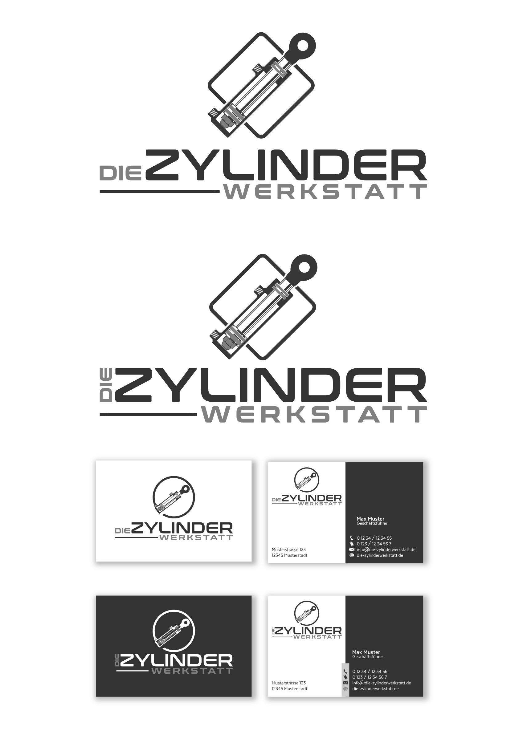 Logo & Visitenkarte für Reparatur von Hydraulikzylindern