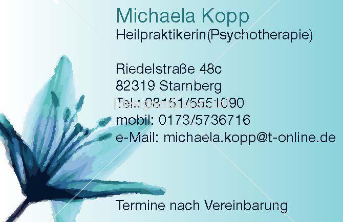 Michaela Kopp Visitenkarten Design Designenlassen De