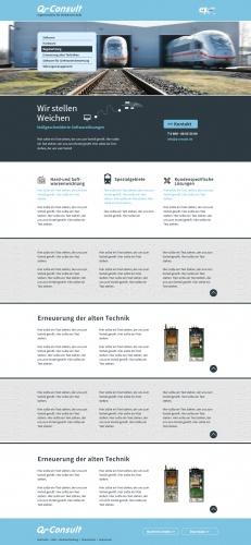Seriöses Webdesign für innovatives Ingenieurbüro mit dem Schwerpunkt Eisenbahn Leit- und Sicherungstechnik