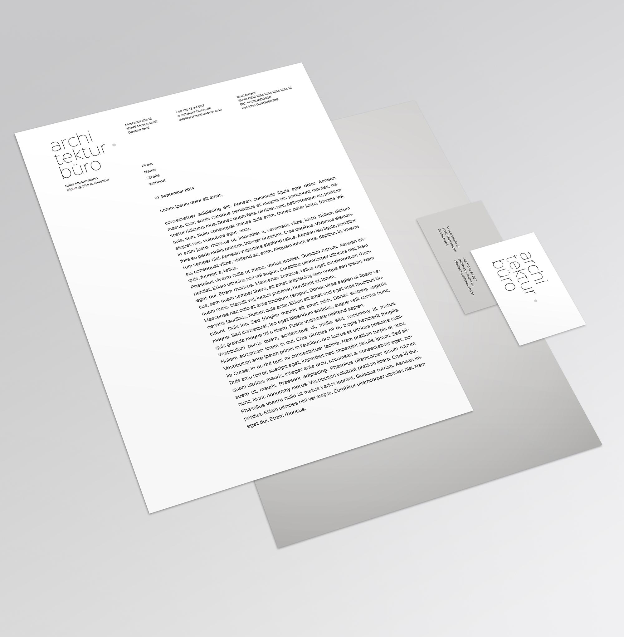 Architektur Büro Entwurf Für Visitenkarten Und