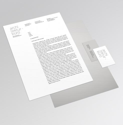 Architektur b ro entwurf f r visitenkarten und for Entwurf architektur