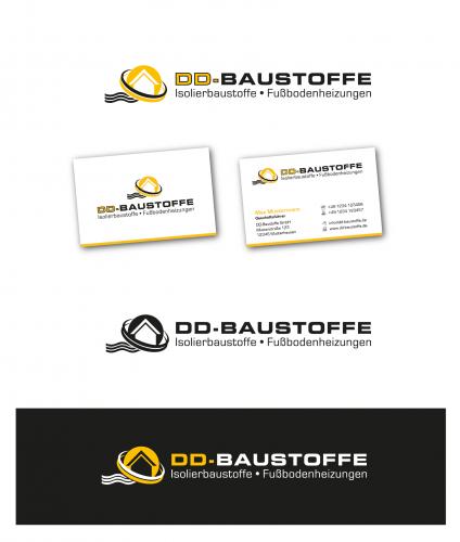 Logo-Design für DD-Baustoffe - Onlinehandel für Isolierbaustoffe und Fußbodenheizungen