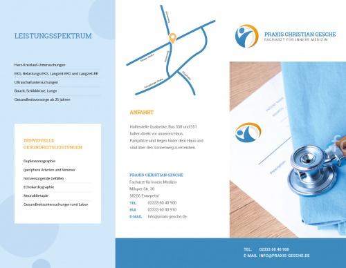 Flyer-Design für Arztpraxis » Flyer design » Design briefing ...