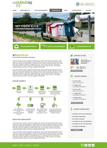 Redesign der :::output.ag Internetseite